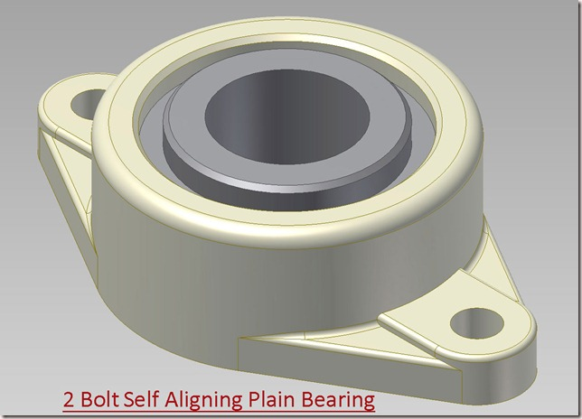 2 Bolt Self Aligning Plain Bearing