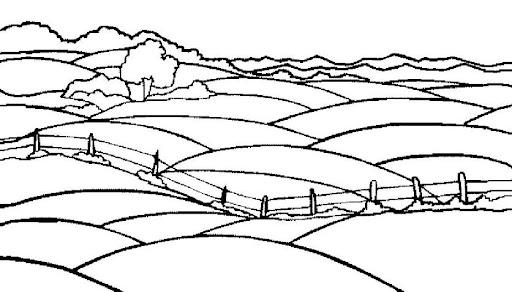 Dibujo del campo y la ciudad para colorear - Imagui