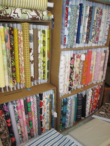 Vintage fabrics. The exciting part of the market is that there's just so much.