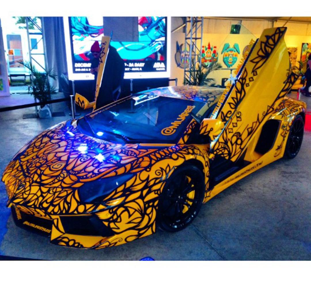 Rent Lamborghini In Miami: Art Basel 2014 Best Local Artist And Best Miami Exotic Car