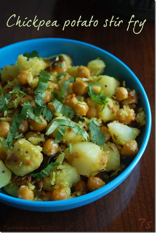 Chickpea potato stir fry