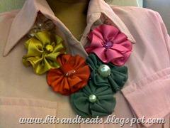 flower patch necklace, bitsandtreats