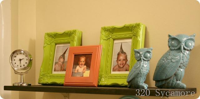 frames in kids bathroom