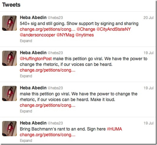 Heba Abedin Tweets 7-19,20-12