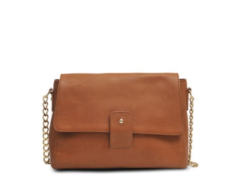 beautiful A.P.C. chain shoulder bag in tan leather - a perfect must have bag.