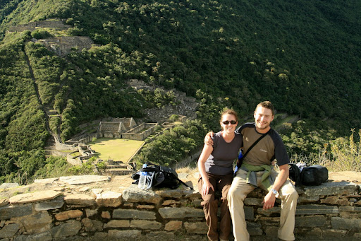 The smiling couple, at the zenith of our Choquequirao trip.