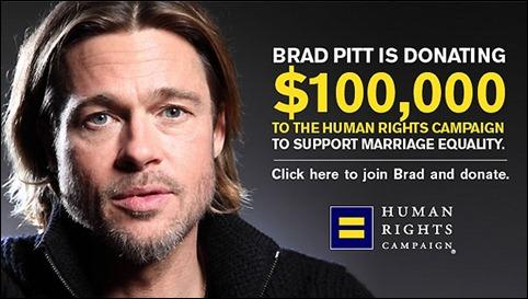 Brad Pitt doação