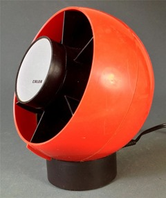 Red and black Calor (France) desk fan