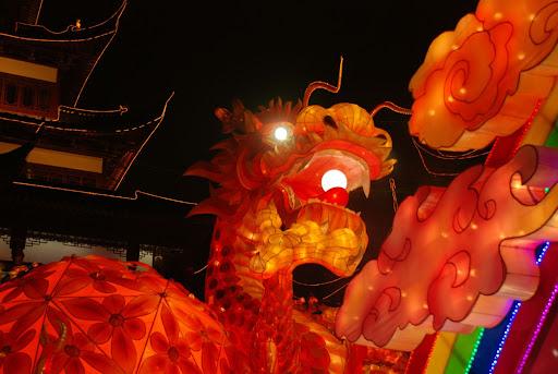 Shanghai Fête des Lanternes 2012 - Dragon à oeil éblouissant