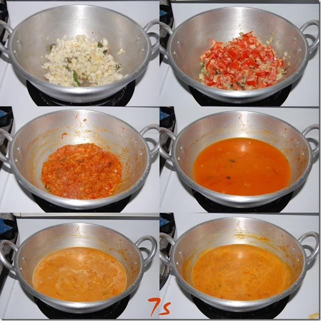 Tomato kurma process
