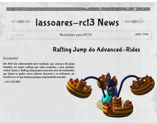 Rafting Jump (Advanced-Rides) lassoares-rct3