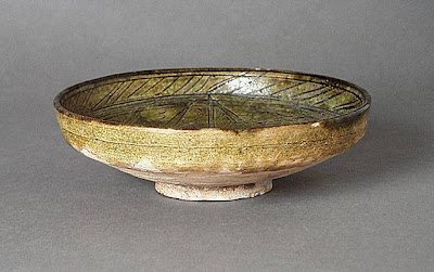 Dish Afghanistan Dish, 8th-10th century Ceramic; Vessel, Earthenware, glazed, Height: 1 15/16 in. (5 cm); Diameter: 6 3/8 in. (16.19 cm) Gift of Andrew Hale and Kate Fitz Gibbon (AC1992.213.7) Art of the Middle East: Islamic Department.