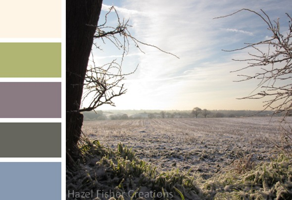 010 colour palette wintry landscape