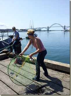 Megan crabbing