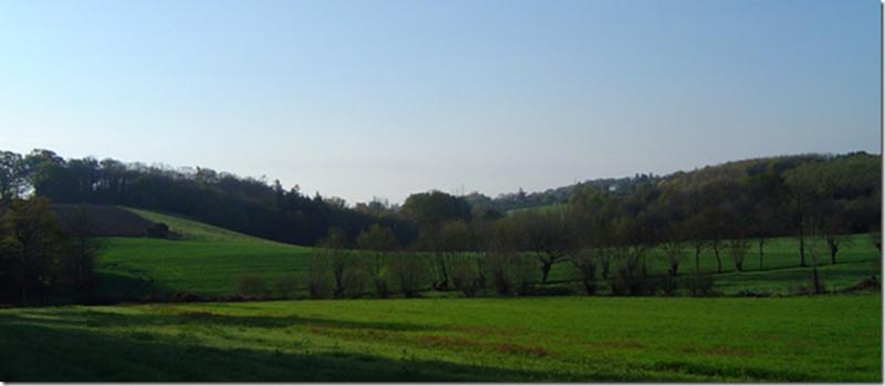 La vallée du Gesvres en bas de Fayau (Fayau vient du latin fagus= hêtre)