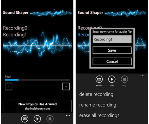 Windows Phone 7 - Sound Shaper