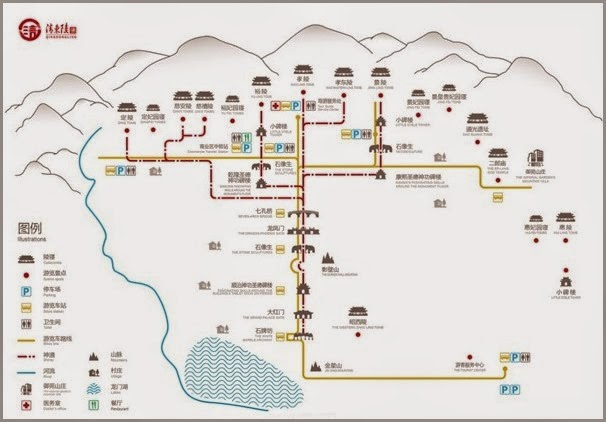 Eastern Qing Tombs Map