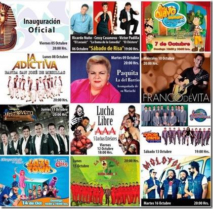 artistas fiestas de octubre 2012 en guadalajara en foro principal
