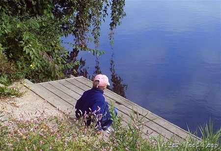 Sitting and watching the lake