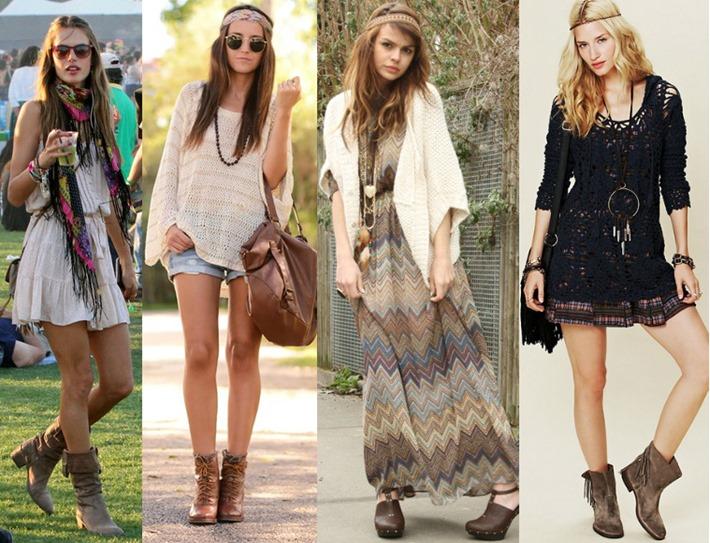 hippie chic looks moda feminina