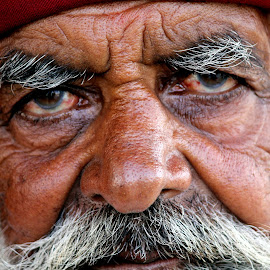 Portrait Of Old Man by Bhishma Bhatti - People Portraits of Men ( #portrait )