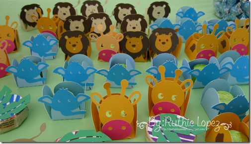 Candy Bar Jungle Safary Theme - Baby Shower Boy -  Lion - Giraffe - Elephant 1