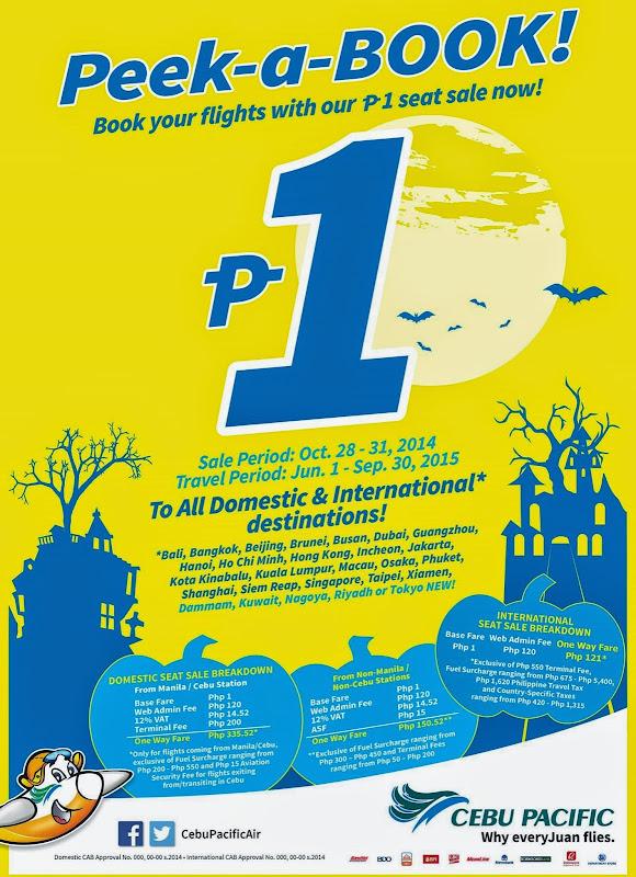 CebuPac Peek-a-Book Piso Fare Promo