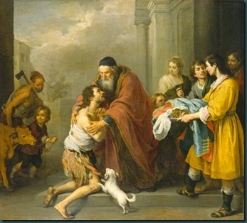 Return of the Prodigal Son by Murillo in national gallery of art