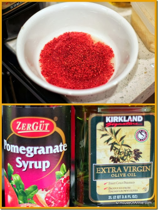 Fattoush Salad dressing ingredients