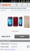 Screenshot of Aukro.cz