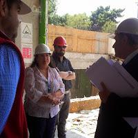 Visita a edificio futuro Cesfam Salvador Bustos