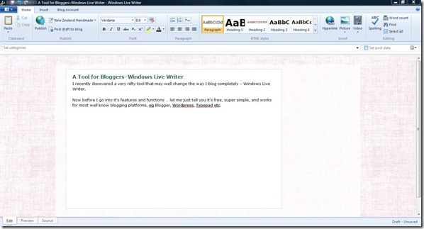 A Tool for Bloggers–Windows Live Writer - Windows Live Writer_2011-10-28_22-53-30