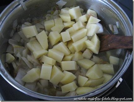 Supă cremă de andive - adaugam cartofii