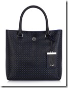 Karen Millen Contrast Perforated Tote, white also