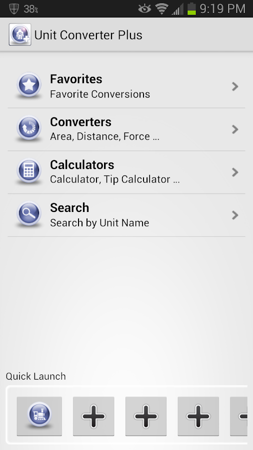 Unit Converter Plus Screenshot 0