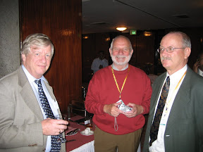Prof Wibe in the middle. He declared that I was a genuine cynic. This is at the reception on the evening of 22nd.