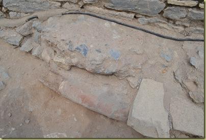 Ephesus water pipe under street