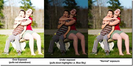 3 exposures