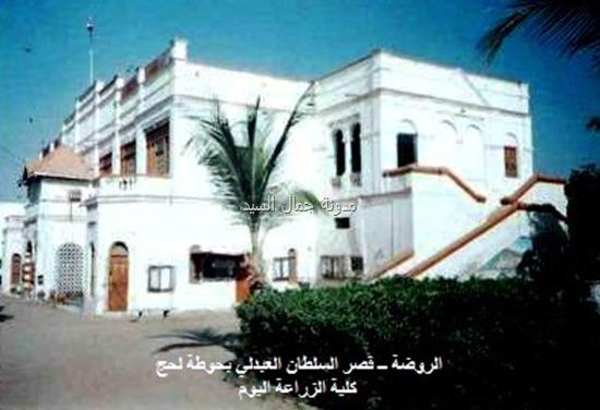 قصر الروضه الذي هو اليوم كلية الزراعه