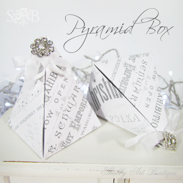 Shabby Art Boutique Pyramid Box 2