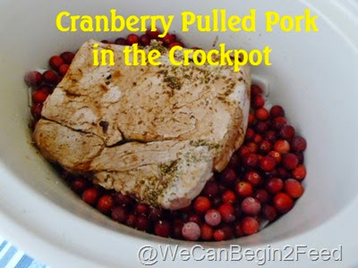 Cranberry Pulled Pork in the Crockpot4