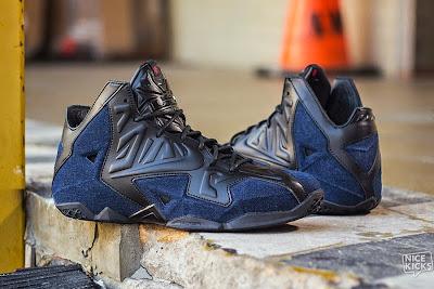 nike lebron 11 nsw sportswear ext denim 5 06 Release Reminder: Nike LeBron XI Ext Denim QS