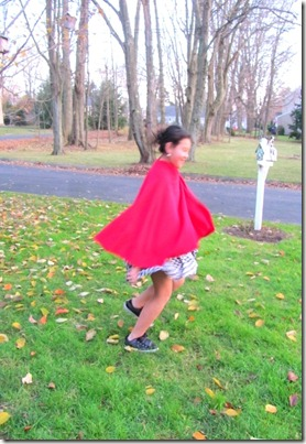 Fleece cape 2
