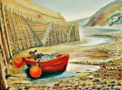 Clovelly Harbour Heatherbell Barlow