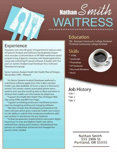 job description line cook server bartender host resume sample    waitress waitress resume skills examples   resume sample waitress