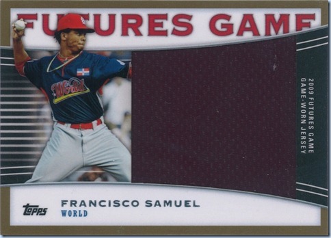 2010 Topps Pro Debut Futures Game Samuel Jersey 25 of 25