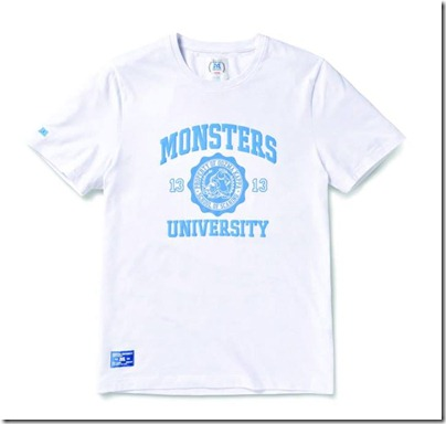 Monster University X Giordano - White Tee Shirt Men 02