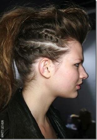 peinado con trenzas originales para jovenes modernos pegadas al craneo