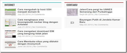 widget list post berdasarkan label