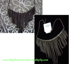 pewter waterfall necklace, hyphen